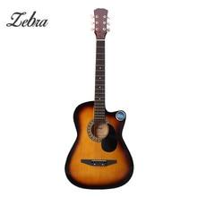 Zebra 6 Color 38 Inch Wooden Folk Acoustic Guitarra Electric Bass Guitar Ukulele with Case Bag for Musical Instruments Lover
