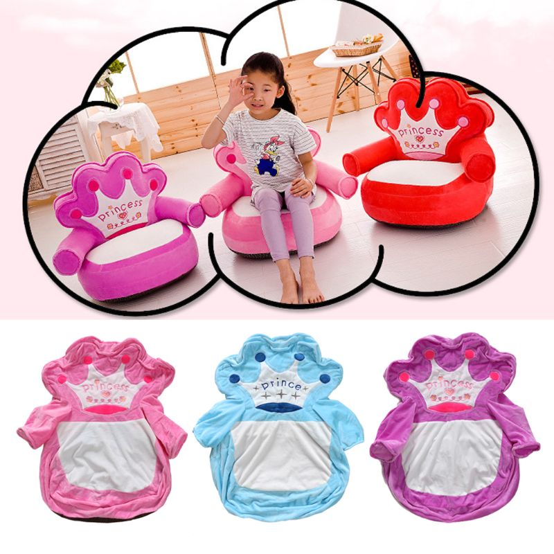 Baby Kids Sofa Cover Seat Children Chair Neat Puff Skin Toddler Children Cover For Sofa