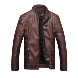 Image 3 - Bolubao Men Leather Suede Jacket Fashion Autumn Motorcycle PU Leather Male Winter Bomber Jackets Outerwear Faux Leather Coat