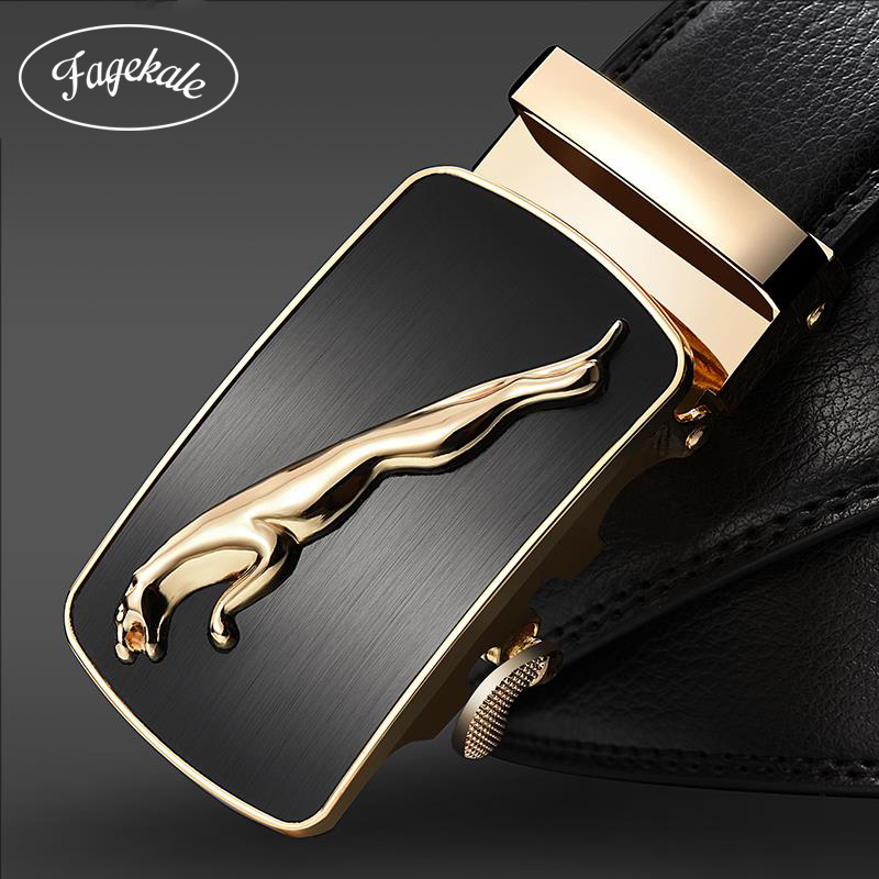 FAGEKALE New Brand Designer   Belts   For Men High Quality Metal Automatic Buckle Men Strap Luxury Genuine Leather   Belt   Fashion