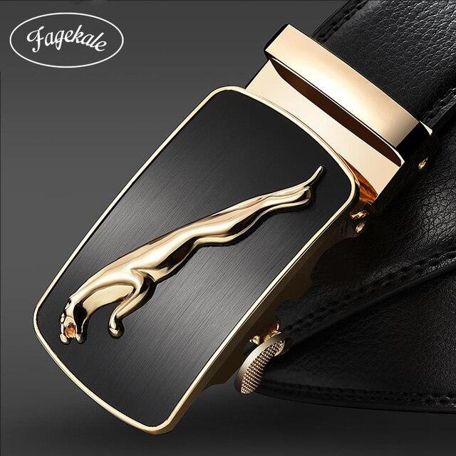 FAGEKALE nueva marca diseñador cinturones para hombres de alta calidad de Metal  hebilla automática de los b21e210d5cf3