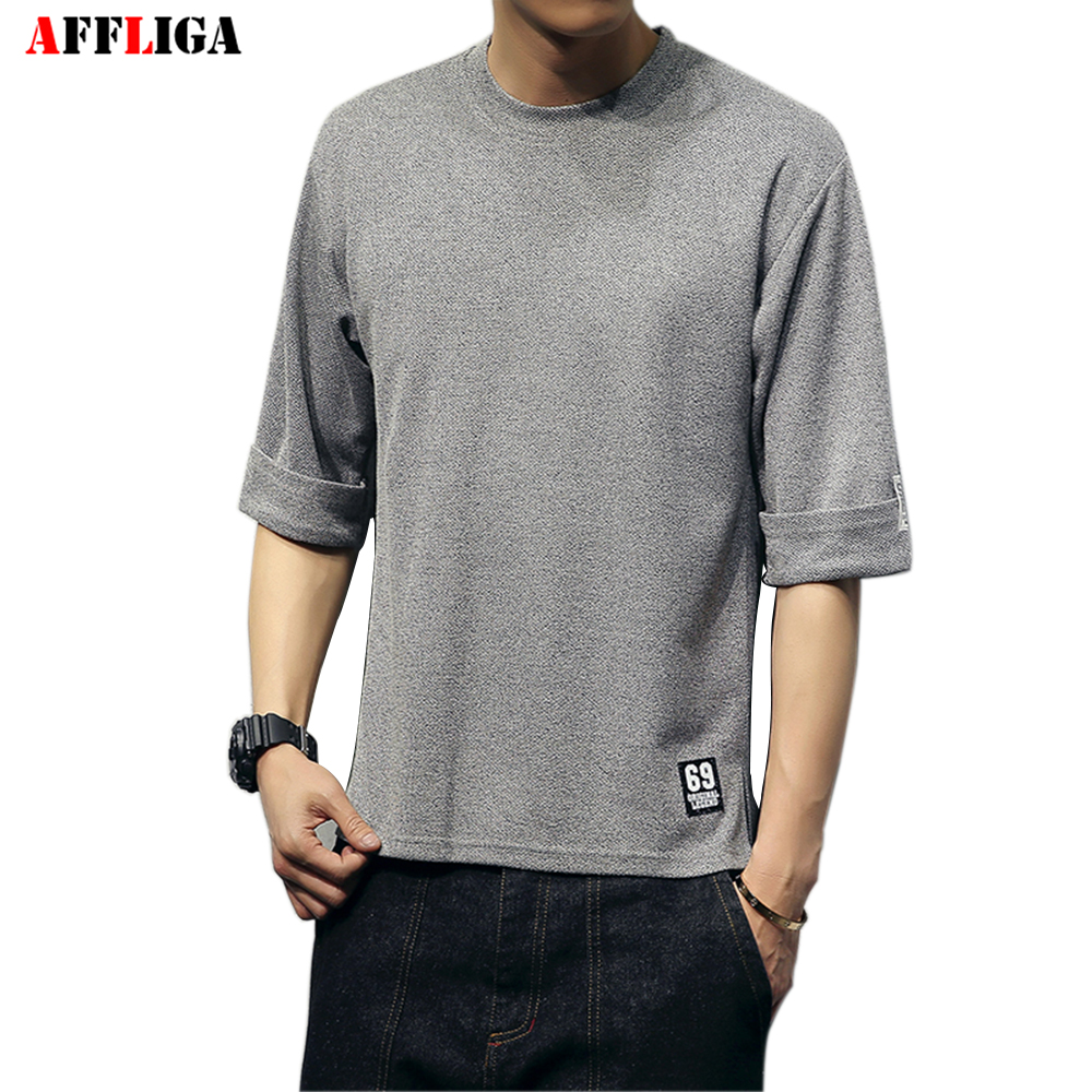 AFFLIGA Brand New Summer Style Cotton Men Clothing Male Slim Fit T Shirt Man T shirts
