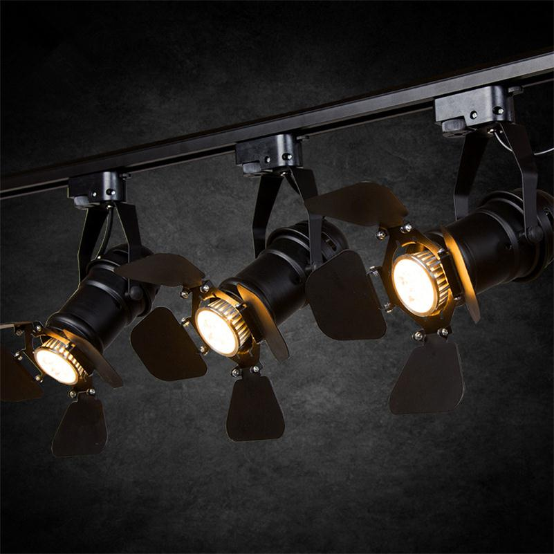 Ceiling Lights & Fans Retro American Cob Track Light Industrial Clothing Guide Lighting Bar Store Hall Lounge Minimalist Vintage Rail Pole Spot Lamps