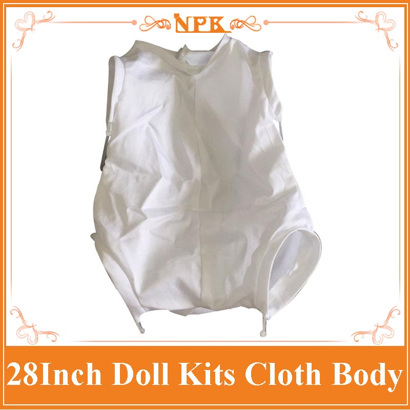 Latest NPK 3/4 Limbs Reborn Doll Kits Cloth Body Fit For 28 Inch Reborn Baby Dolls Accessories Polyester Fabric good price reborn baby doll kits for 17 baby doll made by soft vinyl real touch 3 4 limbs unpainted blank doll diy reborn doll
