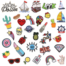 Patches for Clothes Iron on Patch Embroidered Parches Bordados Clothing Backpack Lovely Cloth Stripes 1 PC/Pack