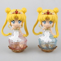 Stock Anime Sailor Moon Tsukino Usagi Princess Serenity PVC Action Figure Collectible Model Toy 2 Colors 10.5cm Free shipping