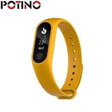 Potino M2 плюс Bluetooth Спорт умный Браслет Шагомер сердечного ритма Мониторы часы анти-потерянный напоминание Водонепроницаемый запястье
