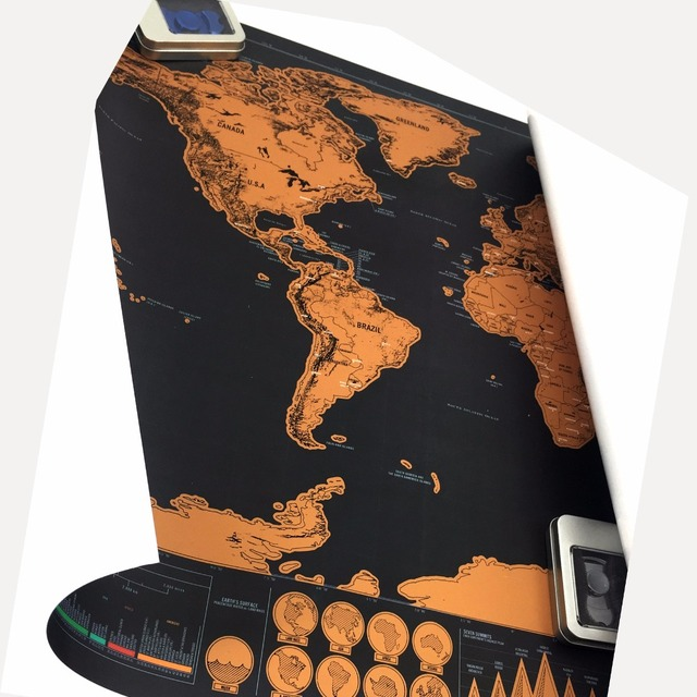 High quality scratch off the world map black for home decoration high quality scratch off the world map black for home decoration wall art craft vintage poster gumiabroncs Images