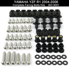 For Yamaha YZFR1 YZF-R1 YZF R1 2004 2005 2006 Full Fairing Bolts Kit Fairing Clips Nuts Bodywork Screws Stainless Steel for yamaha yzfr1 yzf r1 yzf r1 2004 2005 2006 full fairing bolts kit fairing clips nuts bodywork screws stainless steel