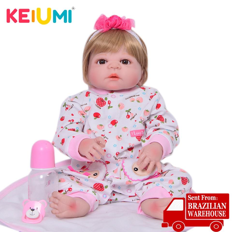 23 Polegada recém-nascidos reborn bebês boneca princesa menina de corpo inteiro macio silicone bebês boneca realista real renascer bonecas crianças palymate