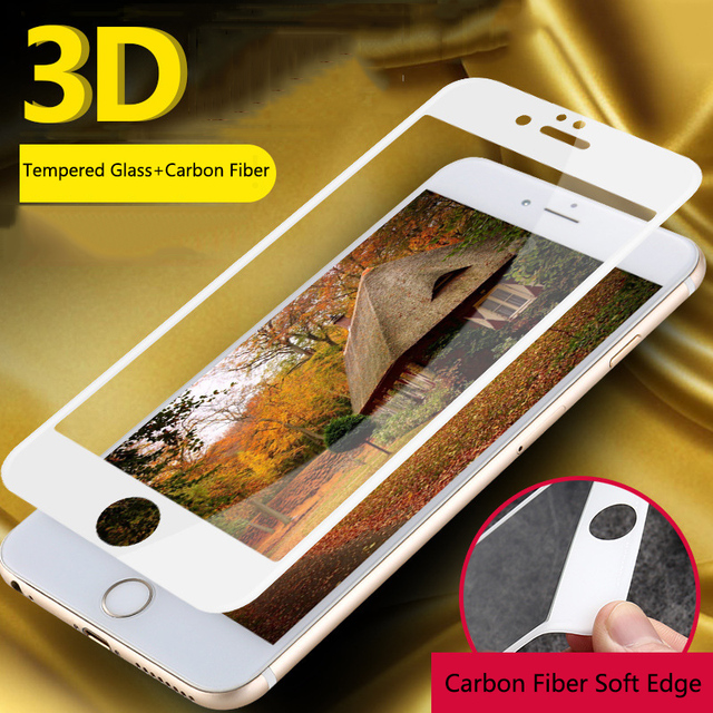 Tempered Glass On The for iPhone 6s 7 8 Protective 3D Curved Soft Edge Full Cover For iPhone 6 6s 7 8 Plus Screen Protector