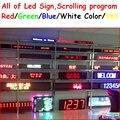 Led sinal de exibição de rolagem Programável vermelho/verde/azul/branco/cor amarela semi-outdoor/indoor, controlador remoto, controle rs232