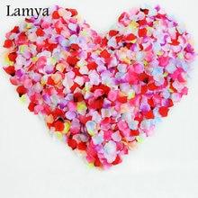800pcs Silk Rose Цветочные лепестки Листья Свадебные украшения Party Festival Table Confetti Decor 15 цветов