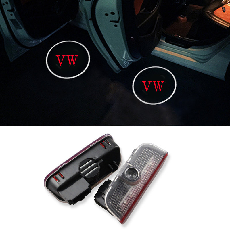 LED Car Door Courtesy Light Welcome 3D Laser Ggost Logo Projector For VW Passat B6 B7 CC Golf 6 7 Jetta MK5 MK6 Tiguan Scirocco