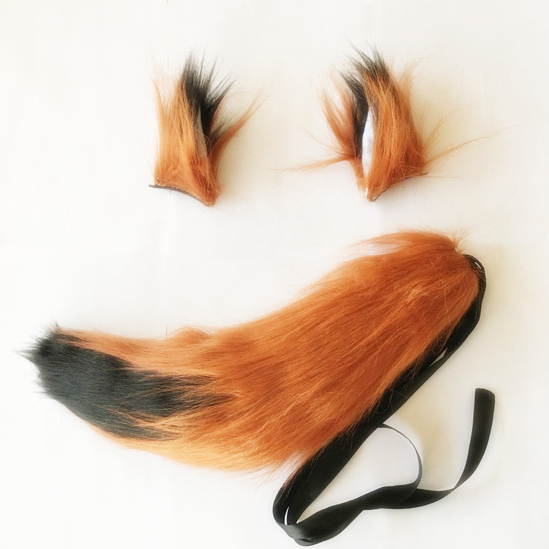 Zootopia/Zootropolis Cosplay Costume Accessory Fox Nick HeadwearTail+Ear New Free Shipping