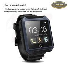 2016 kostenloser versand reloj intelligente wasserdicht stoßfest outdoor-sport bluetooth 4,0 smartwatches tragbares gerät Uterra Blau