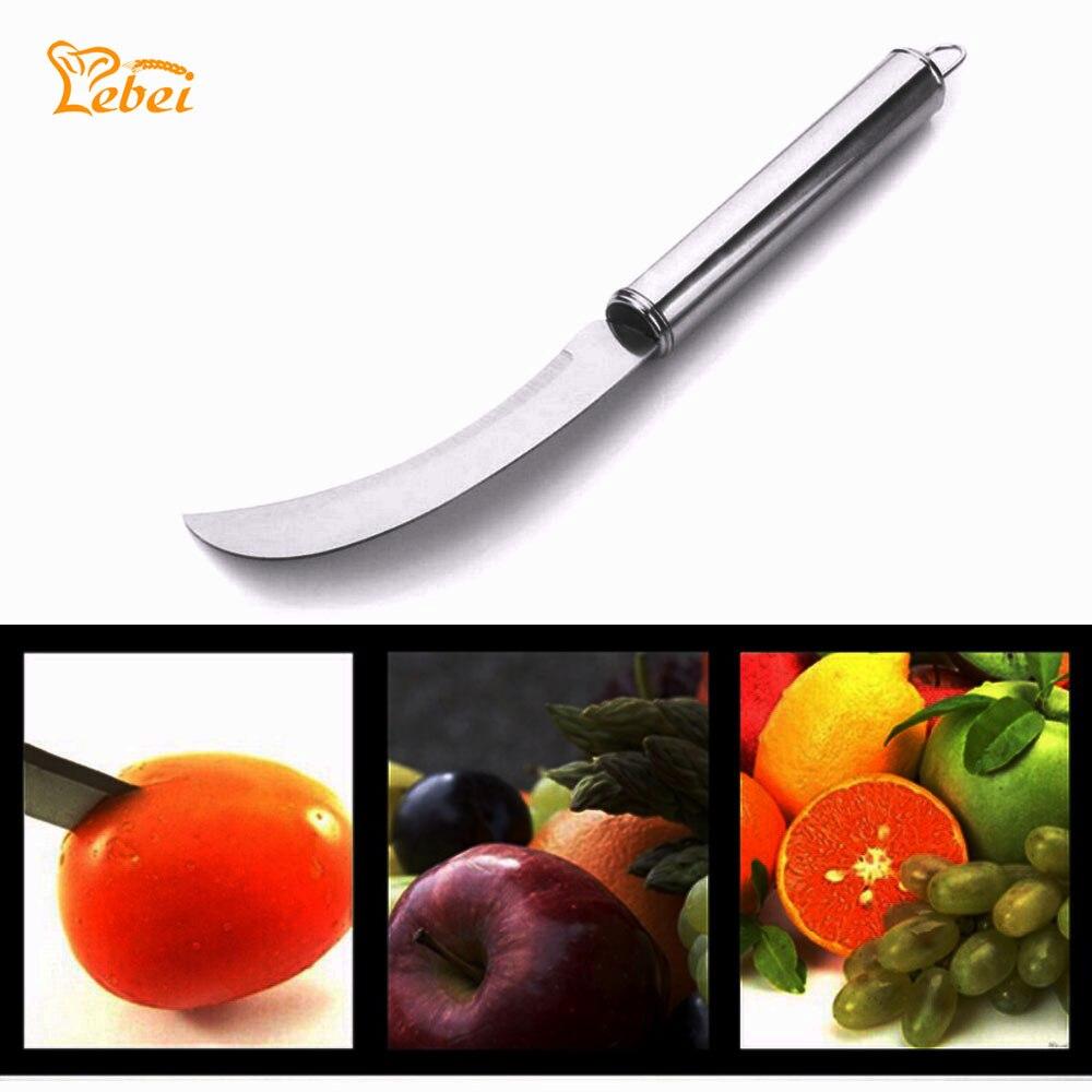 De Acero inoxidable Cuchillo de Fruta Pelador de Cocina Pequeño Plátano Largo Ma