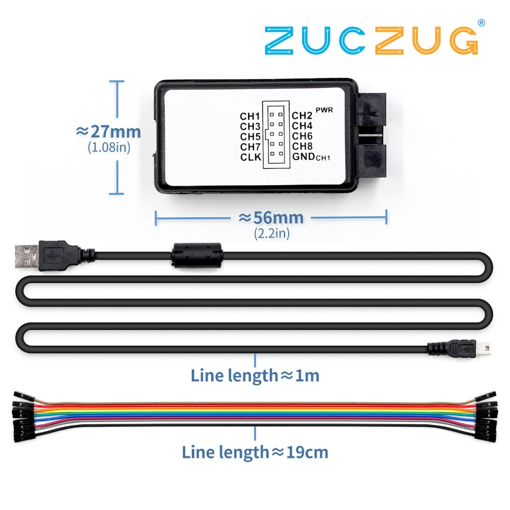 USB <font><b>Logic</b></font> SCM <font><b>24MHz</b></font> 8 Channel 24M/seconds <font><b>Logic</b></font> <font><b>Analyzer</b></font> Debugger for ARM FPGA <font><b>Logic</b></font> <font><b>Analyzer</b></font> <font><b>Logic</b></font> 24M 8CH image