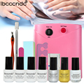 Nail Art Manicure Tools UV Lamp & Soak off Gel Nail Polish Base Top Coat & Liquid Palisade & Remover Magic Set File kit