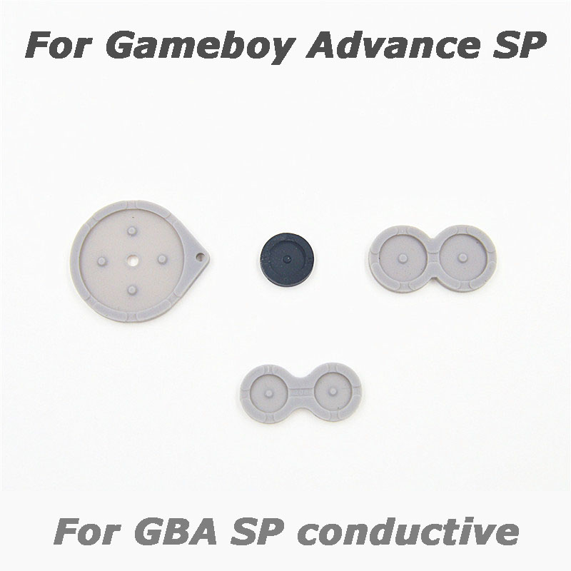 1x For GBA SP GBASP Button Conductive Rubber Mat Key Pad Pads 4pcs/Set for Nintendo Game Boy Advance Console Replacement Part [100set 200pcs] brand new rotating shaft hinge axle part for gba sp gameboy advance sp game console replacement