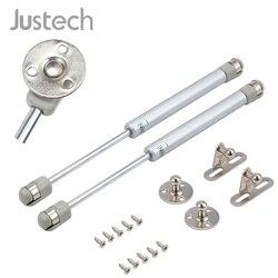 Justech 2 sztuk 50-200N pneumatycznego amortyzatora rozszerzony 269mm sprężyna gazowa amortyzator sprężyna dociskowa klapa montażu sprężyna gazowa do mebli
