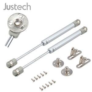 Justech, 2 uds., 50-200N, puntal neumático extendido de 269mm, amortiguador de resorte de Gas, RESORTE DE COMPRESIÓN, resorte de ajuste de aleta de Gas para muebles