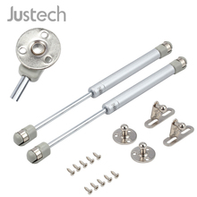 цена на Justech 2Pcs 200N Pneumatic Strut Extended 269 mm Gas Spring Damper Compression Spring Flap Fitting