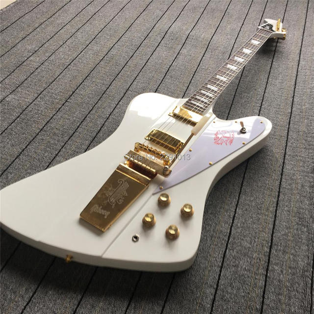 Custom Shop White Firebird Electric Guitar With Long Verson Maestro