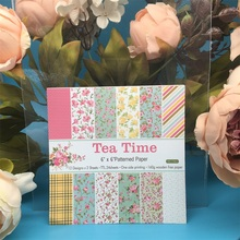 24pcs/Pack 6*6inch Afternoon Tea Time Patterned Paper Pack Scrapbooking DIY Planner Card Making Journal Project Letter Pad