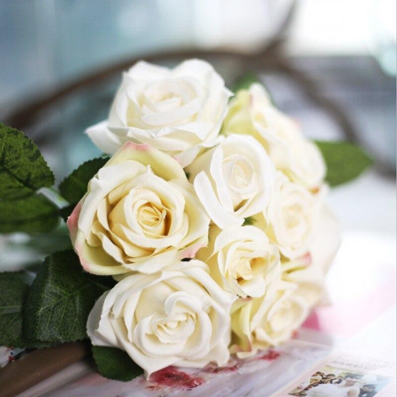 9pcs/set Rose flowers bouquet wedding decoration Thai Royal Rose ...