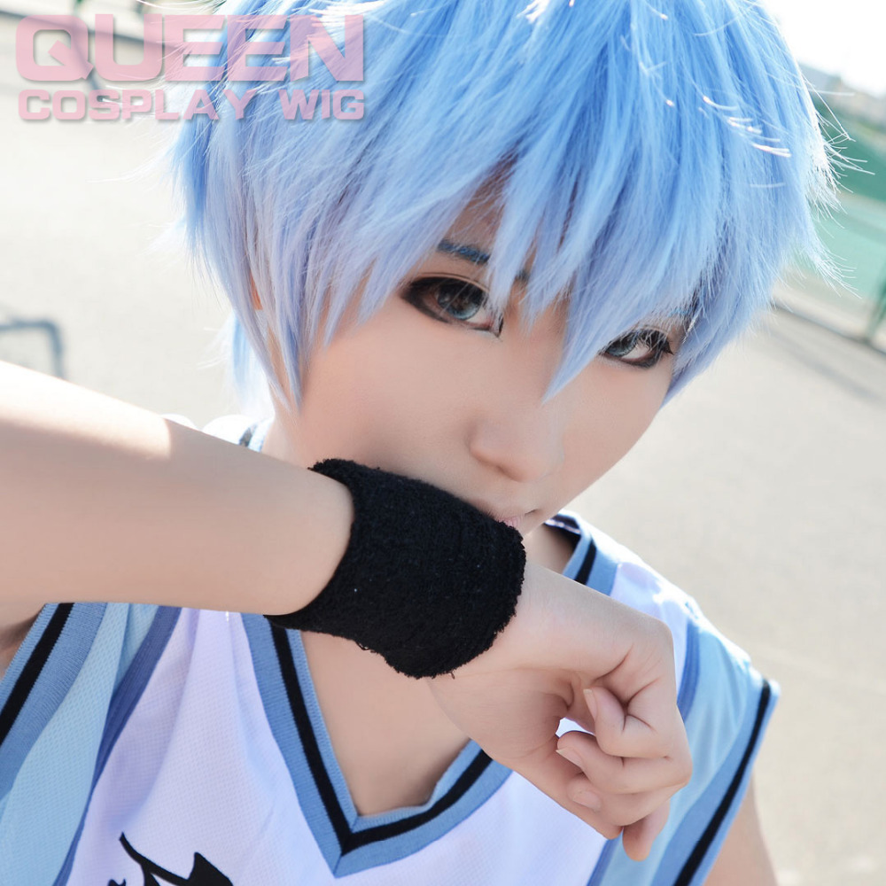 Cos Wig Light Blue Short Wig Handsome For Men Boy Cosplay