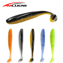 Купить с кэшбэком 6pcs Minnow Easy Shiner Soft Fishing Lures Wobblers Silicone Bait Double Color Carp Artificial 90mm 3.5g Fishing Tackle WE1134