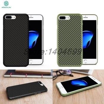 Funda para Apple iPhone 7 Plus fibra de carbono 5,5 pulgadas Nillkin funda trasera de fibra sintética PP funda de plástico para iPhone 7 Plus