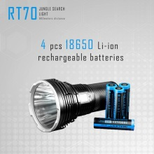 IMALENT RT70 Powerful KIT LED flashlight 18650 rechargeable 5500 lumens Led torch with high quality USB charging magn