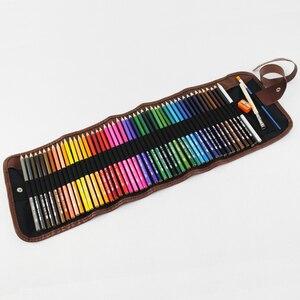 Image 5 - طقم أقلام رصاص ملونة من الخشب 48/72 لونًا طقم أقلام رسم حقيبة أقلام رصاص حقائب لوحة فنية للمدرسة