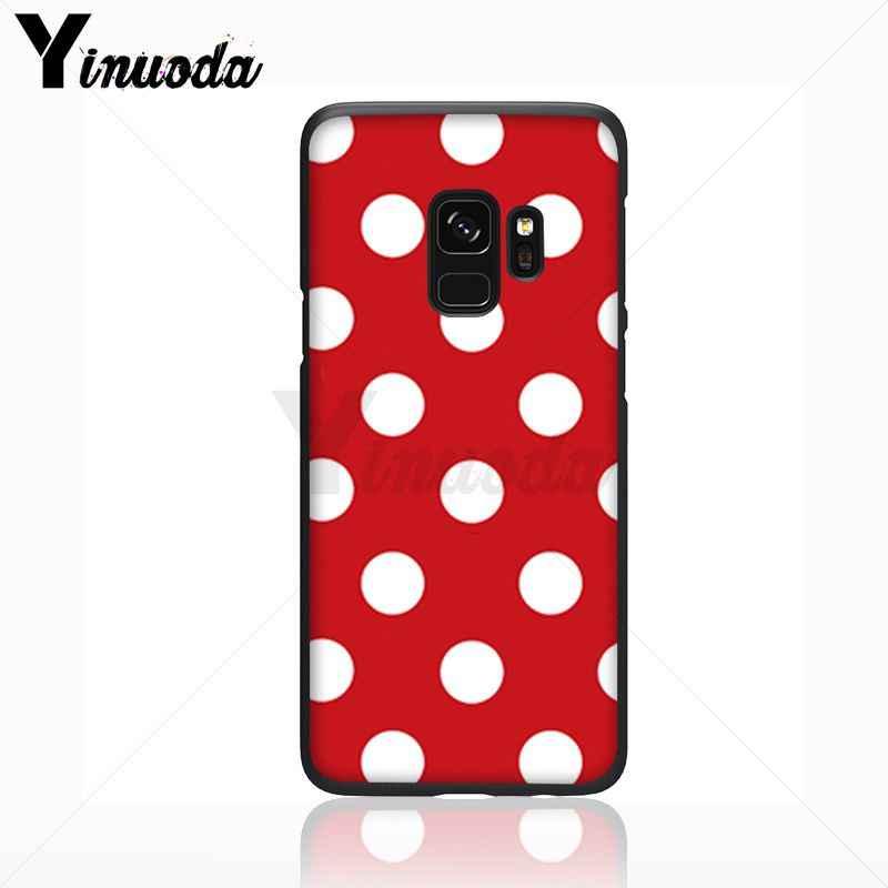 Yinuoda 赤、黒、金ポルカドットソフトシリコーン黒電話ケース s9 s8 プラス注 8 note9 s7 note5 funda