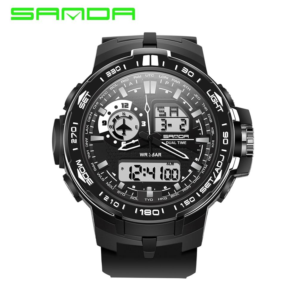Watches Men Sports Watches SANDA Brand Fashion Sport Super Cool Men s Quartz Digital Watch Military