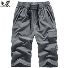 1~3 Pack plus size 7XL 8XL Summer Shorts Men Casual Cropped Trousers F