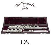 Музыкальный инструмент C мелодия флейта Muramatsu DS Бренд 17 ключей отверстия открытые флейты высокое качество мельница Посеребренная новая фле