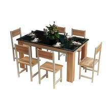 Room A Langer Comedor Meja Makan Redonda Escrivaninha Set Comedores Mueble Dinning Wood Desk Mesa De Jantar Bureau Dining Table(China)