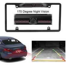 Автомобиль лицензии Рамки 170 градусов объектив заднего вида резервного копирования парковочная Камера обратный Ночное видение Камера Водонепроницаемый Лидер продаж