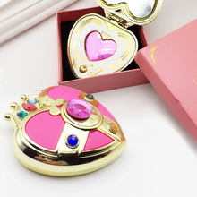 Cute Sailor Moon S Moonlight Memory Series Cosmic Heart Mirror Case Compact Crystal cosmetic make up mirror