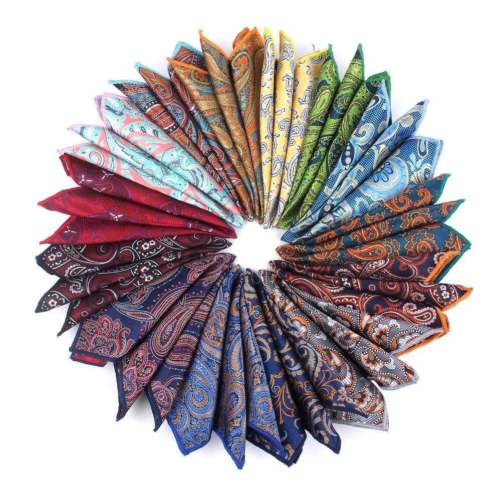 Fashion Paisley Pocket Square Floral Handkerchief For Suits 23cm*23cm Hankies For Men Women Brand Suits Pocket Towel Hanky