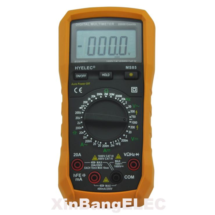 Digital Multimeter AC/DC Resistance Capacitance Frequency Tester w/ Backlight 20000 Counts Multitester мультиметр multimeter 5818 ac dc w