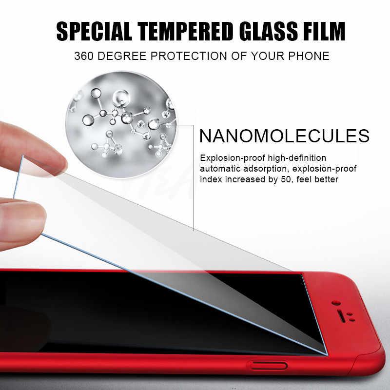 H & A Роскошный 360 Полный чехол для телефона чехол для iPhone 7 8 6 6s Plus 5 5S SE защитный чехол для iPhone X XR XS Max чехол со стеклом