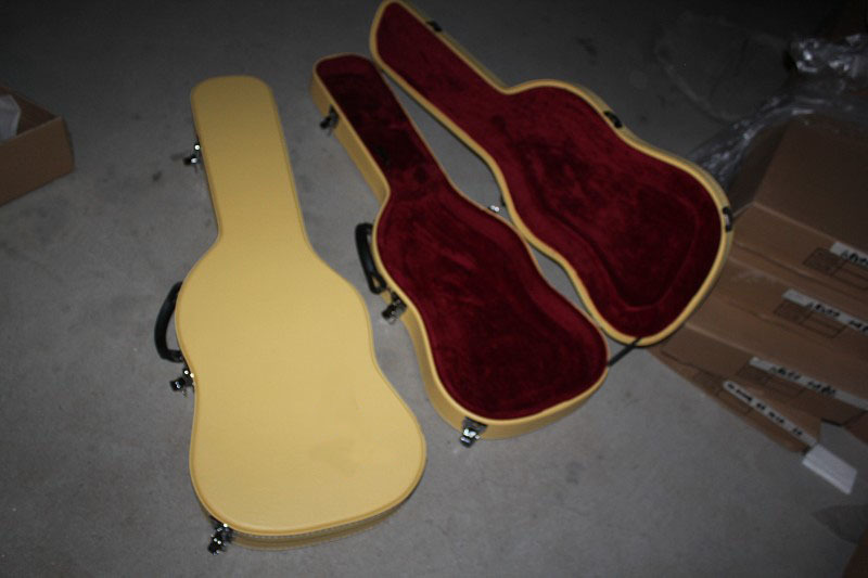 buy f guitar case yellow hardcase follow with guitar for sale not sold. Black Bedroom Furniture Sets. Home Design Ideas