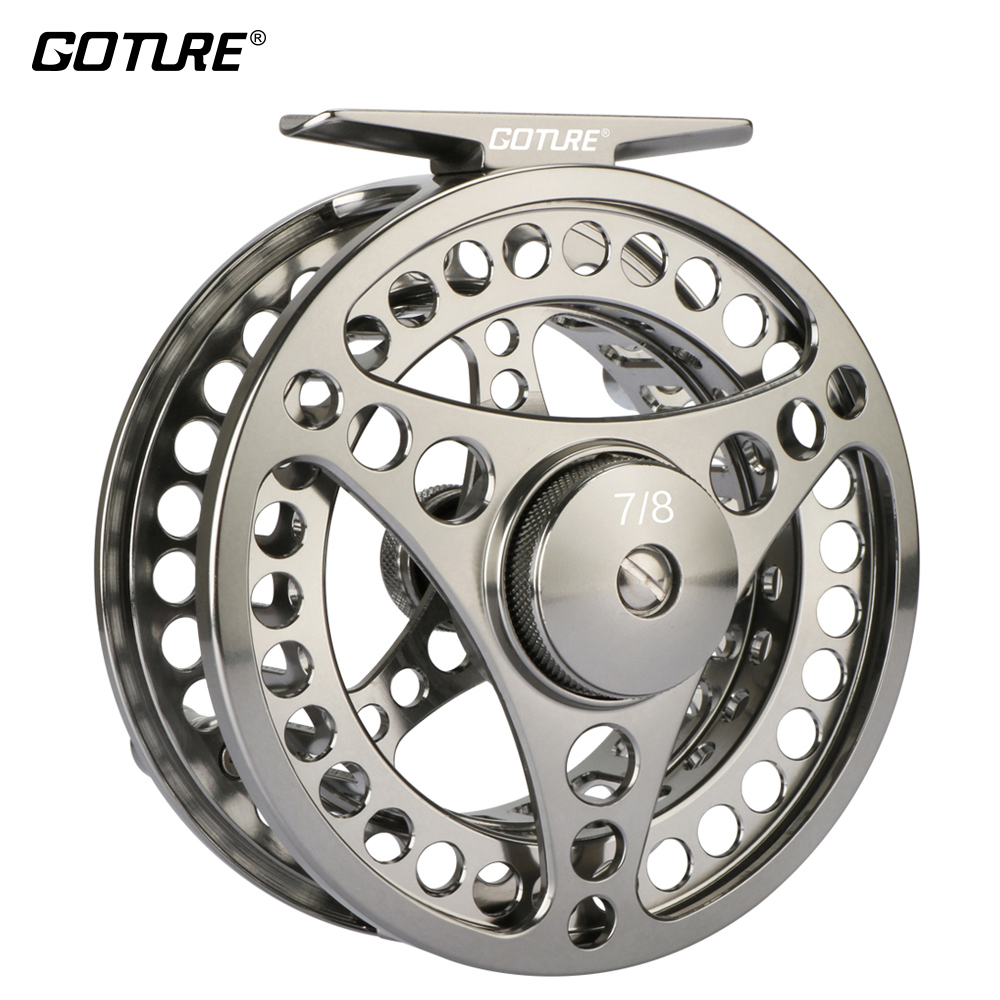 Goture 3/4 5/6 7/8 9/10 Fly Fishing Reel Aluminum Frame Spool Fly Reel Wheel CNC Machine Cut Coil Pesca 3BB 1:1 Fishing Tackle игрушка siku альфа ромео 4c 7 8 9 7 3 8см 1451