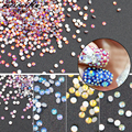 A Estrenar 1440 Unids/pack AB Crystal No Hotfix Flatback Rhinestones DIY Nail meicailin Rhinestoen Para Uñas 3D Decoración Del Arte Del Clavo