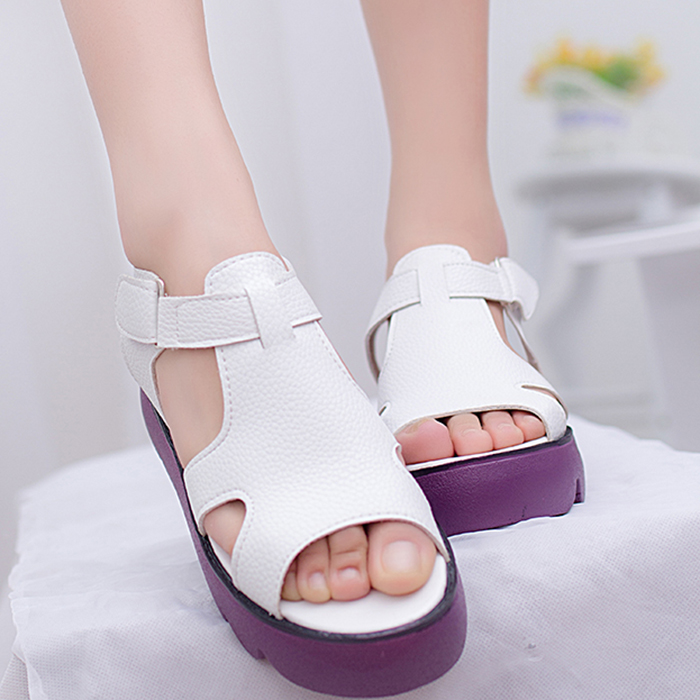 New 2015 women platform sandals korean style shoes women shoes casual women sandal fashion Korean fashion style shoes