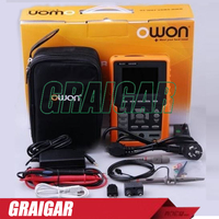 OWON 3 8 LCD Display Handheld Scopemeter Multimeter Cymometer Dual Digital Storage Oscilloscope Bandwidth 60MHz HDS2062M